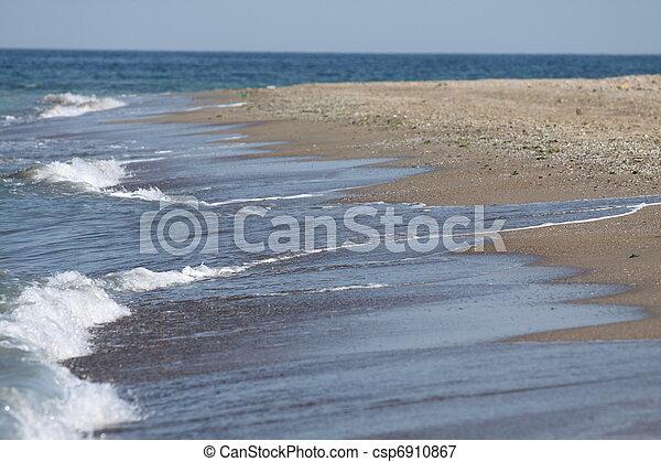 empty beach on the Black Sea - csp6910867