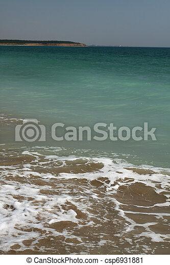 empty beach on the Black Sea - csp6931881