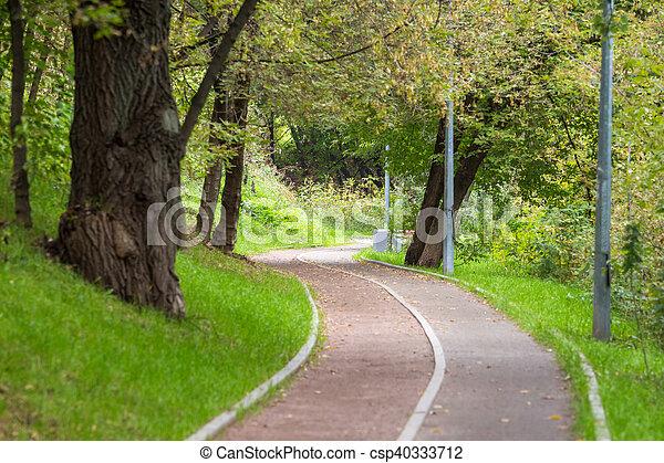 Empty bicycle lane - csp40333712