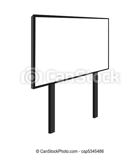 Empty billboard - csp5345486