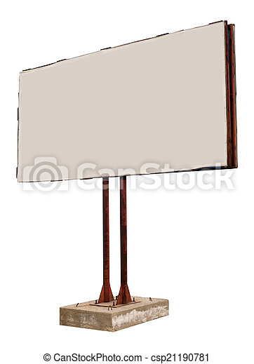 Empty billboard - csp21190781