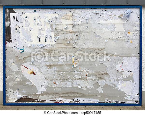 Empty billboard - csp50917455