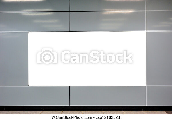 Empty billboard - csp12182523