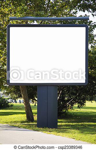 Empty billboard - csp23389346