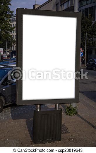 Empty billboard - csp23819643