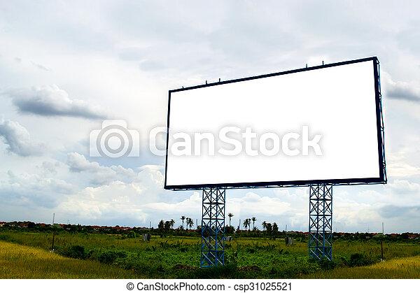 Empty billboard - csp31025521