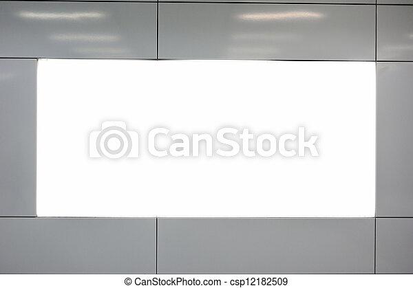 Empty billboard - csp12182509