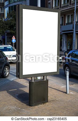 Empty billboard - csp23165405