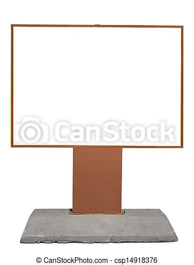 Empty billboard with copy space - csp14918376