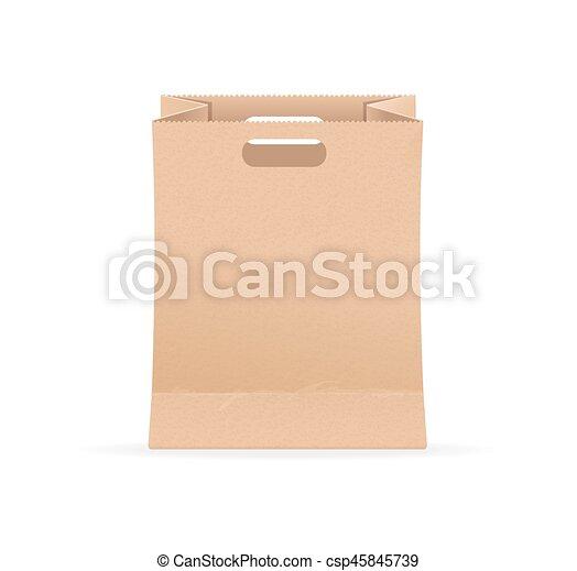 empty blank template paper bag sale vector empty blank template