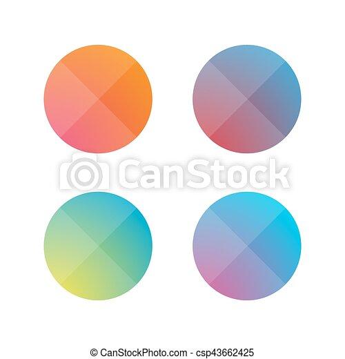 Empty button set flat design vector - csp43662425
