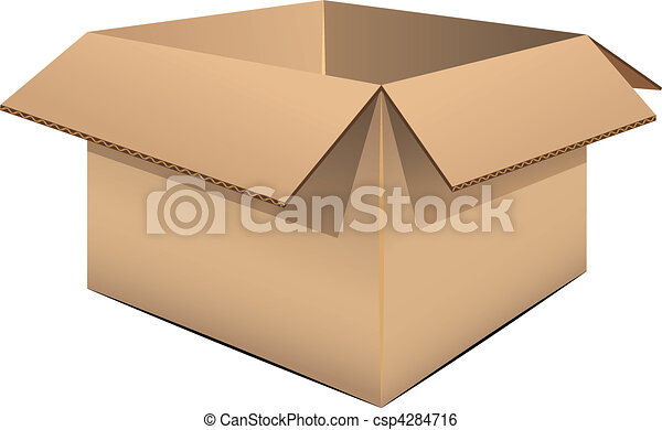 Empty cardboard box - csp4284716