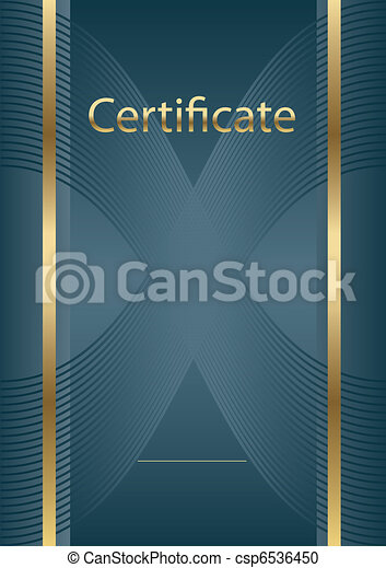 empty certificate background  - csp6536450