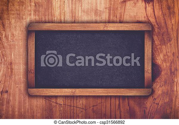 Empty chalkboard as copy space - csp31566892