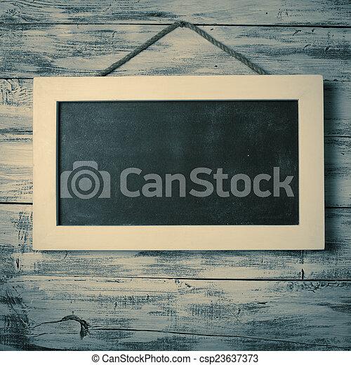 Empty chalkboard - csp23637373