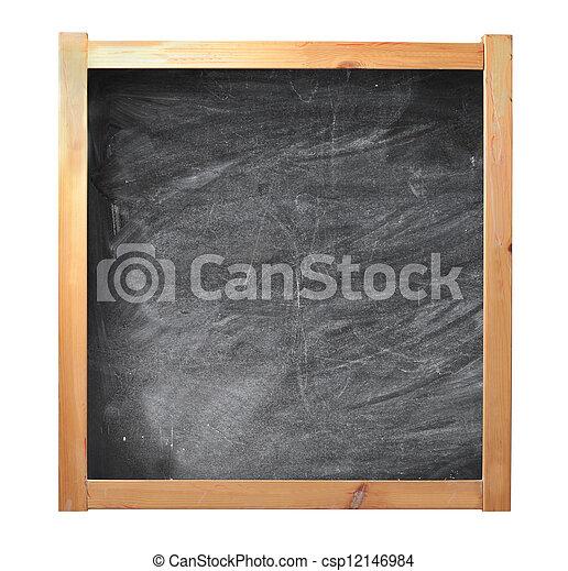 Empty chalkboard - csp12146984