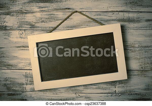 Empty chalkboard - csp23637388