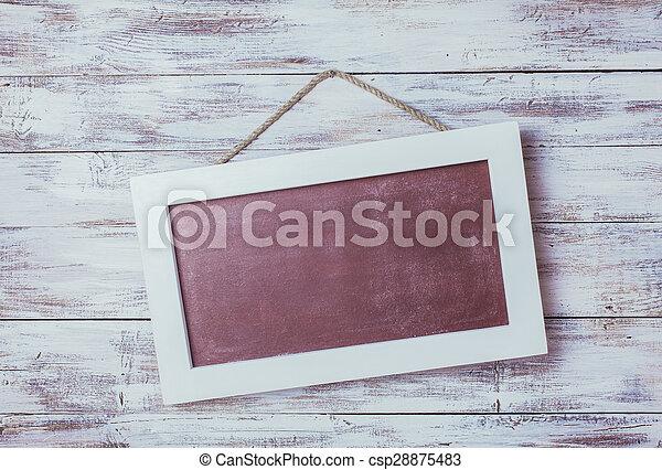 Empty chalkboard - csp28875483