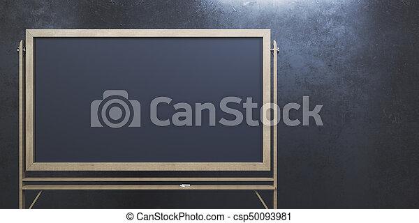 Empty chalkboard - csp50093981