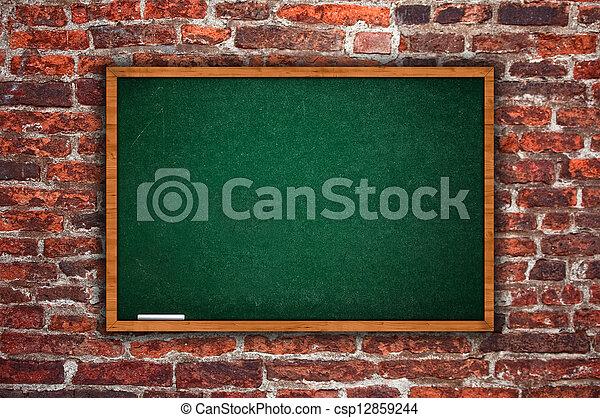 Empty chalkboard - csp12859244