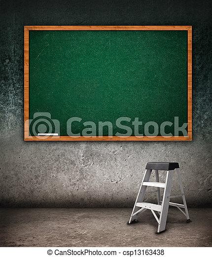 Empty chalkboard - csp13163438