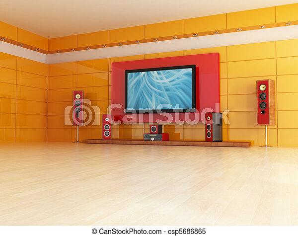 empty cinema room - csp5686865