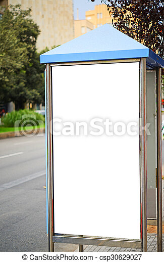 Empty city billboard - csp30629027