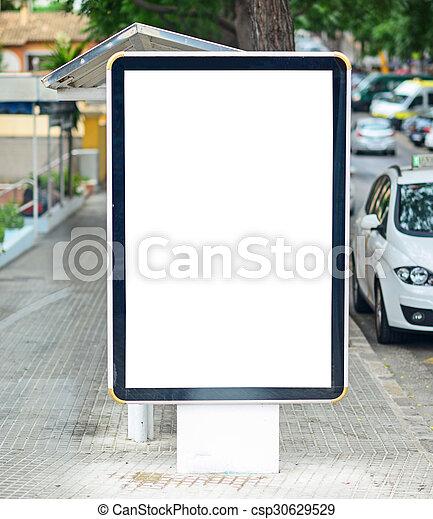 Empty city billboard - csp30629529