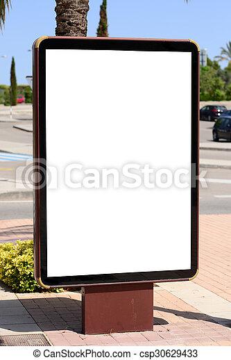 Empty city billboard - csp30629433