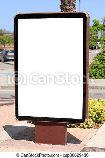 Empty city billboard - csp30629436