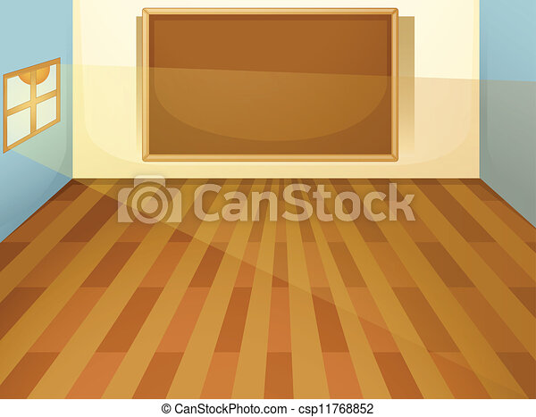 Klassenzimmer clipart  Clipart Vector of empty classroom - illustration of empty ...
