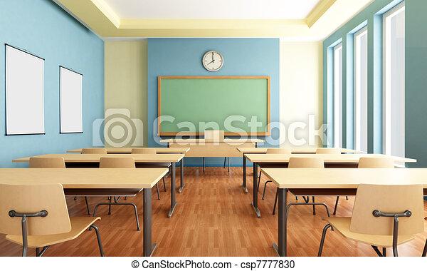 empty classroom - csp7777830