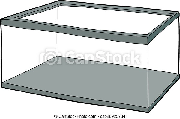 Empty Clear Aquarium - csp26925734