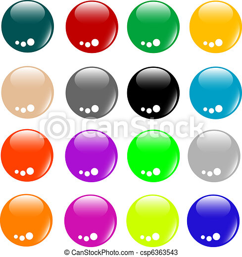 Empty Colored web button collection - csp6363543