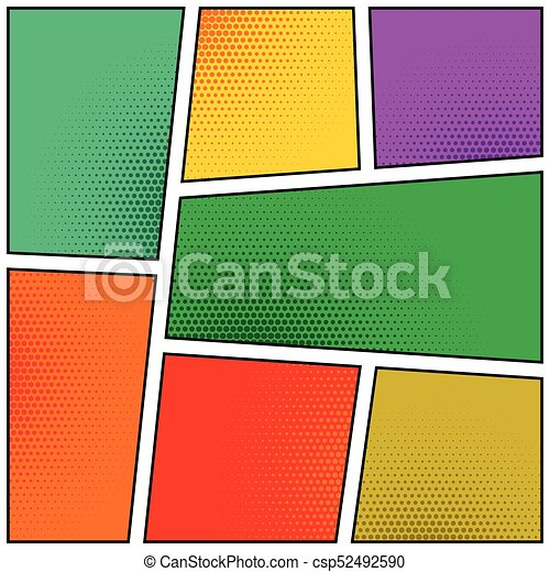 Empty Comic Book Pages Template Design Eps Vectors  Search Clip Art