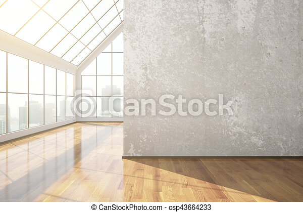 Empty concrete room - csp43664233