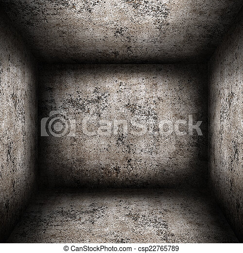 Empty concrete room in a grunge style - csp22765789