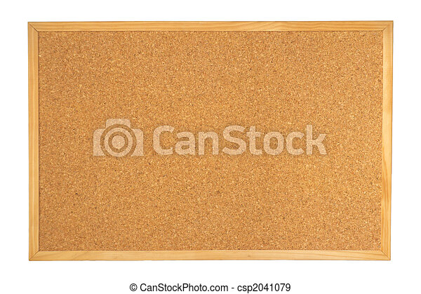 Empty cork board isolated on white background - csp2041079