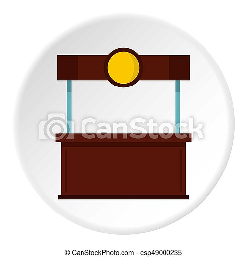 Empty counter with canopy icon circle - csp49000235