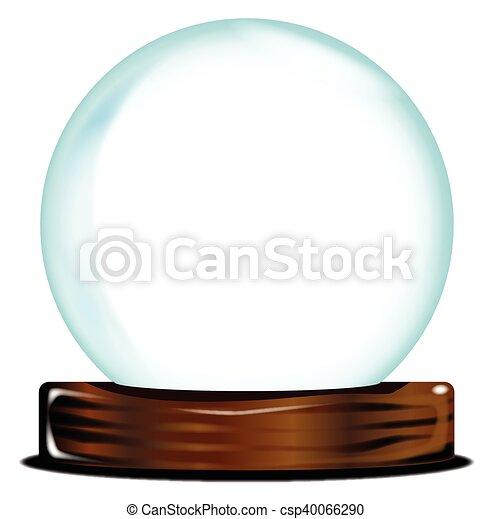 Empty Crystal Ball - csp40066290