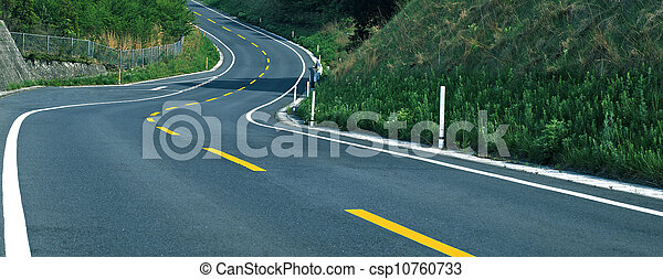 Empty curved road - csp10760733