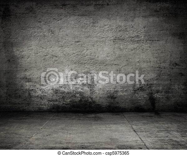 empty dark old wall  - csp5975365