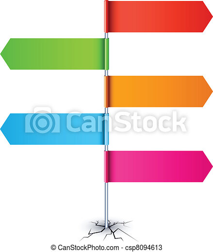 Empty direction sign. - csp8094613