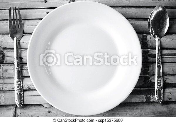Empty dish  - csp15375680