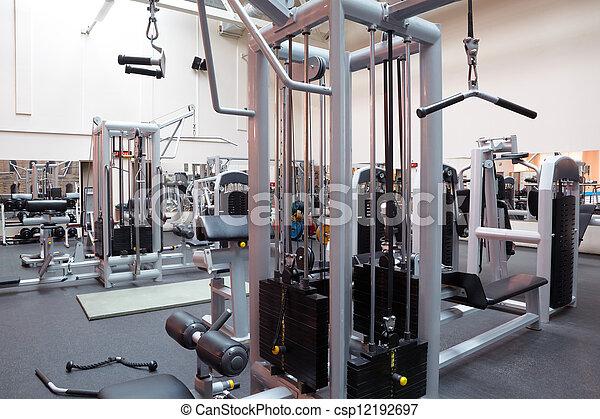 Empty fitness center hall - csp12192697