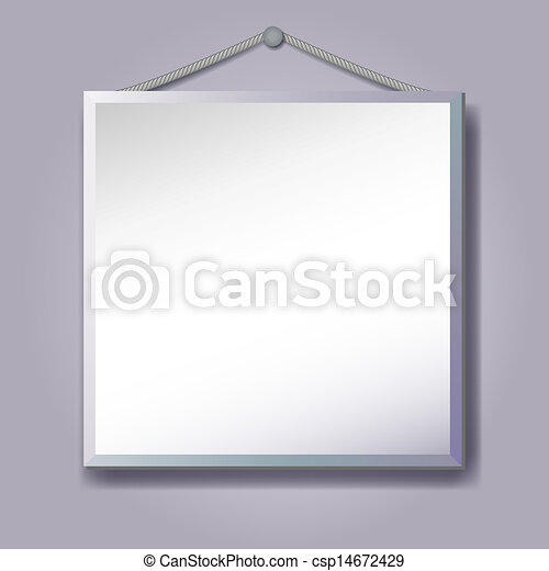 Empty Frame Hanging For Inserting Text Or Photo Vector Illustration