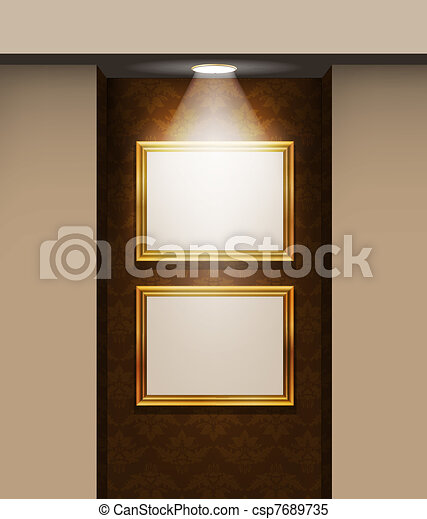 empty frames on the wall - csp7689735