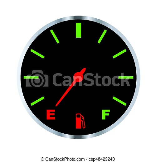 empty fuel gauge a typical vehicle fuel gauge at the empty eps rh canstockphoto com A Wrinkle in Time Clip Art Calendar Time Clip Art