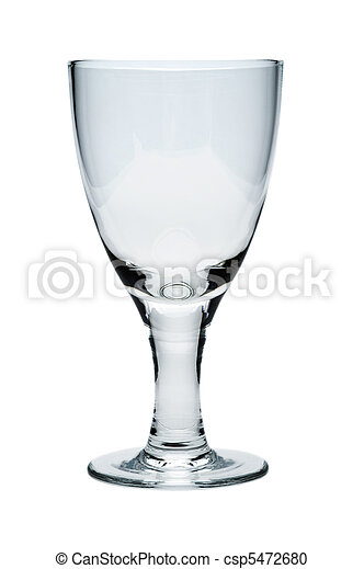 Empty glass, isolated on a white background - csp5472680
