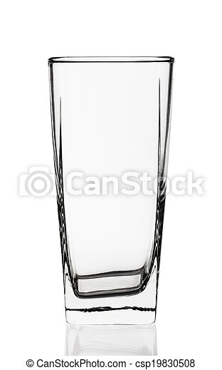 Empty glass isolated on white background - csp19830508